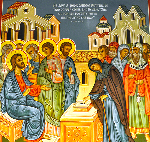 Jesus Christ and the Poor Widow